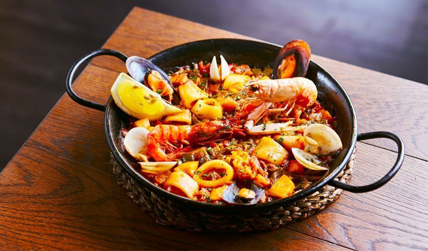 paella - Typical food of Barcelona